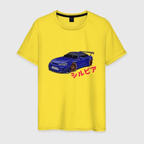 Мужская футболка хлопок Nissan Silvia Слива Фото 01