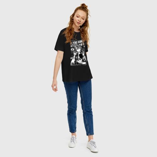 Женская футболка хлопок Oversize Вторжение Рамена Фото 01