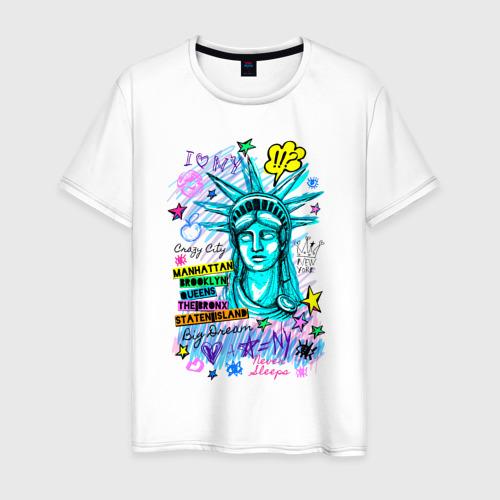Мужская футболка хлопок New York Статуя Свободы Фото 01