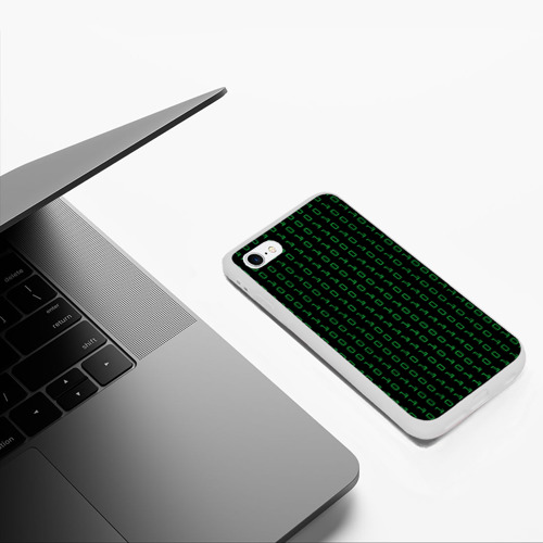Чехол для iPhone 6/6S матовый Бинарный код Фото 01