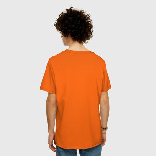 Мужская футболка хлопок Oversize Сердитый котик с кофе Фото 01