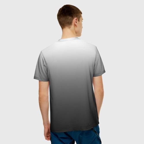 Мужская футболка 3D Черно-белый градиент Фото 01