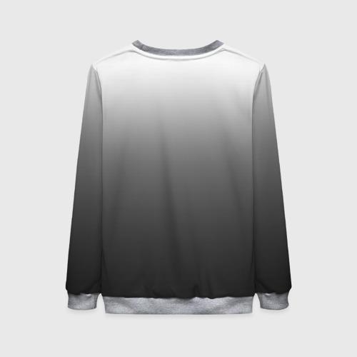 Женский свитшот 3D Черно-белый градиент Фото 01