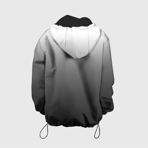 Детская куртка 3D Черно-белый градиент Фото 01