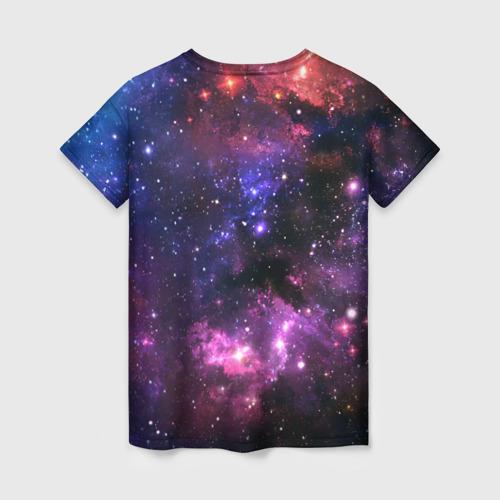 Женская футболка 3D Космическое небо Фото 01