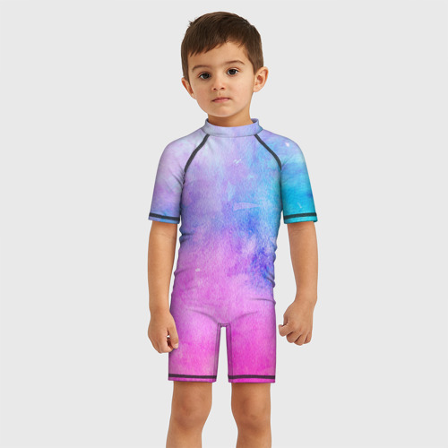 Детский купальный костюм 3D Акварельные пятна Фото 01