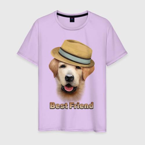 Мужская футболка хлопок Лучший друг Фото 01