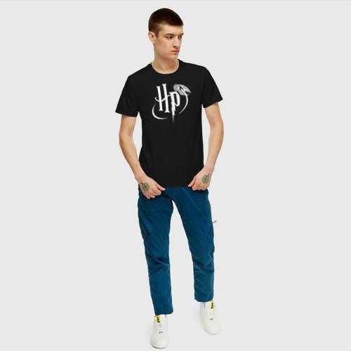 Мужская футболка хлопок Harry Potter White Logo Фото 01