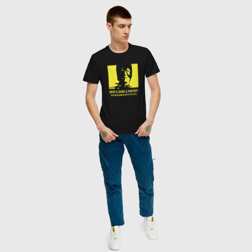 Мужская футболка хлопок VANSAMA OFFICIAL Yellow Фото 01