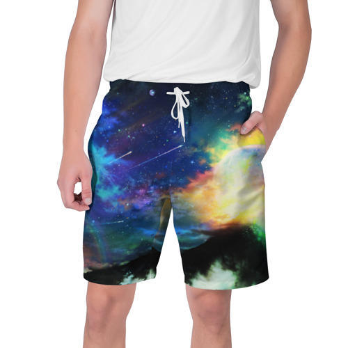 Мужские шорты 3D Космические краски Фото 01