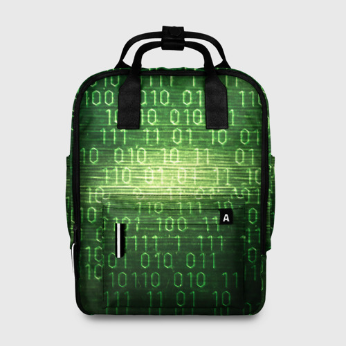 Женский рюкзак 3D Двоичный код Фото 01