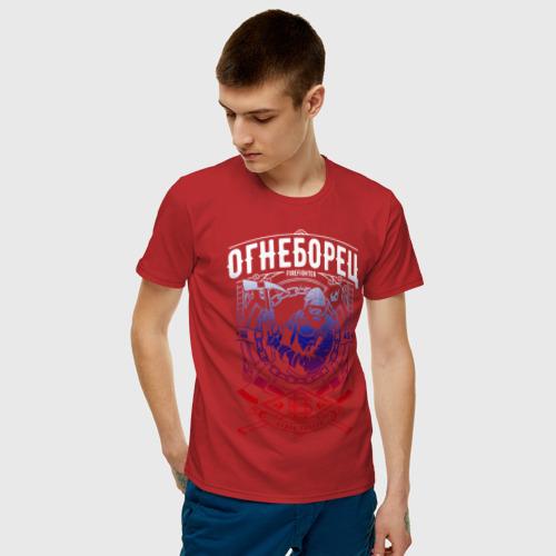 Мужская футболка хлопок Пожарный Фото 01
