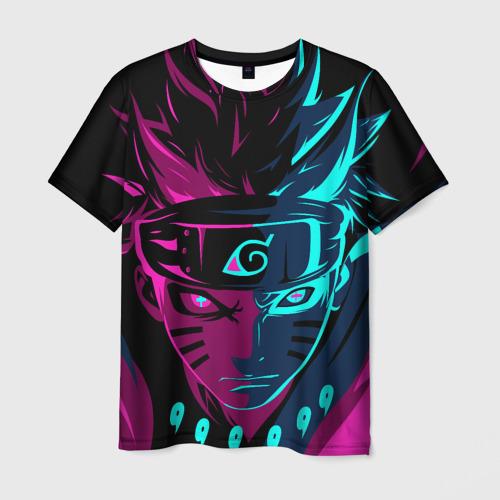 Мужская футболка 3D Неоновый НАРУТО Фото 01