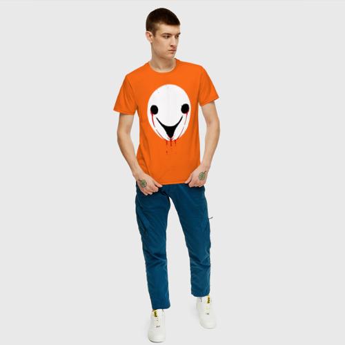 Мужская футболка хлопок Странные лица (+спина) Фото 01