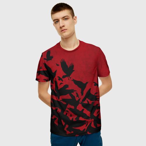 Мужская футболка 3D Itachi Crows Фото 01