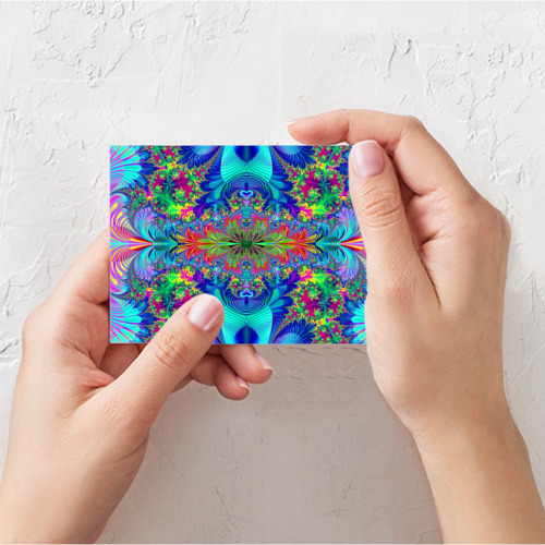 Поздравительная открытка Неоновый закат Фото 01