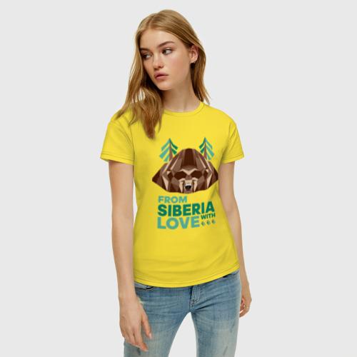 Женская футболка хлопок Из Сибири с любовью Фото 01