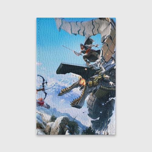 Обложка для паспорта матовая кожа Horizon Zero Dawn Фото 01