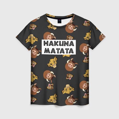 Женская футболка 3D Hakuna Matata Фото 01