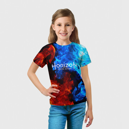 Детская футболка 3D Horizon Zero Dawn FIRE Фото 01