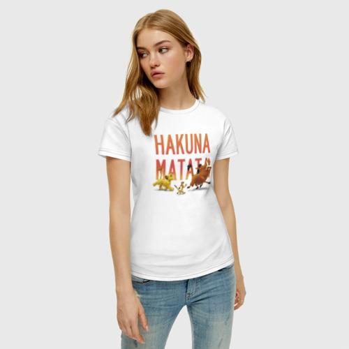 Женская футболка хлопок Хакуна Матата Фото 01