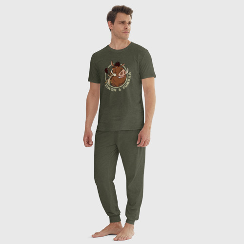 Мужская пижама хлопок Тимон и Пумба Фото 01