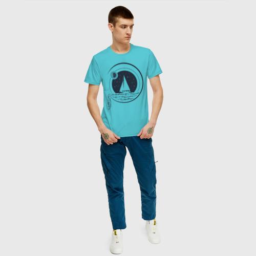 Мужская футболка хлопок Вокруг света под парусами Фото 01