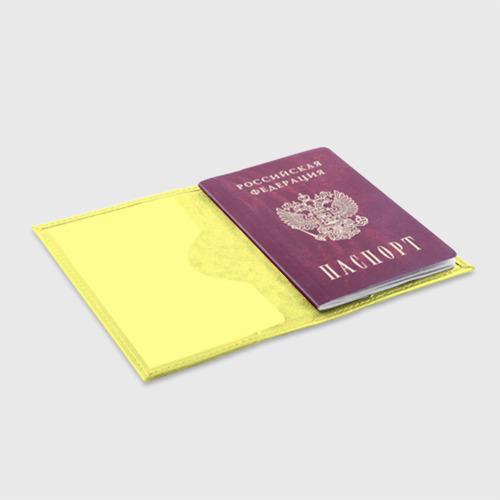 Обложка для паспорта матовая кожа Зеленые листья Фото 01