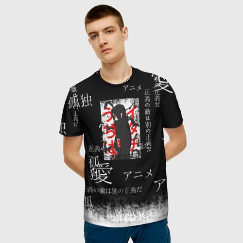 Мужская футболка 3D Итачи Фото 01