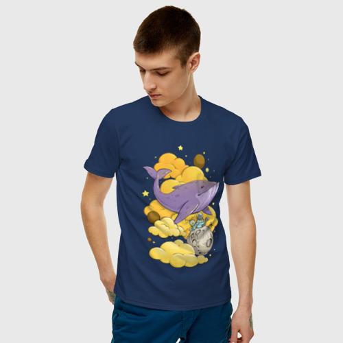 Мужская футболка хлопок Космический кит Фото 01