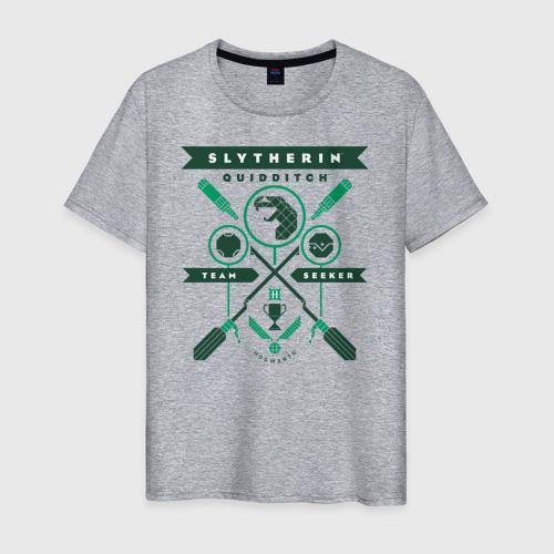 Мужская футболка хлопок Slytherin Quidditch Фото 01