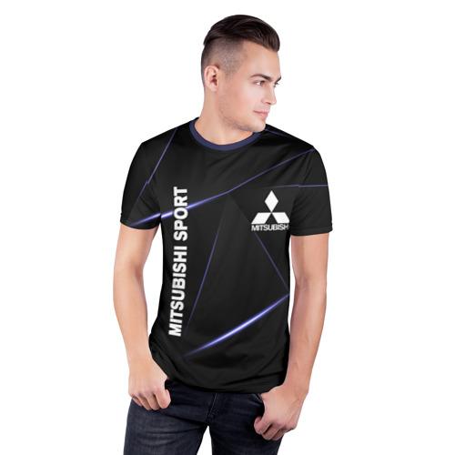 Мужская футболка 3D спортивная MITSUBISHI Фото 01