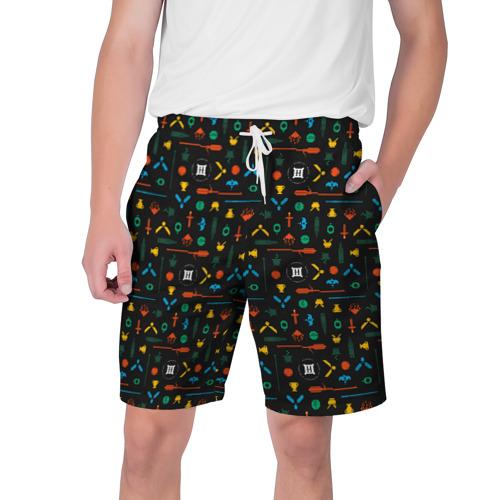 Мужские шорты 3D Хогвартс паттерн Фото 01