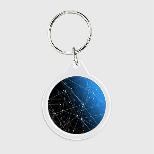 Брелок круглый Линейно-точечная геометрия  Фото 01