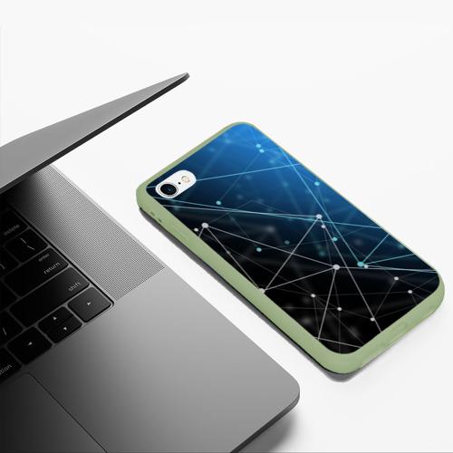 Чехол для iPhone 6Plus/6S Plus матовый Линейно-точечная геометрия  Фото 01