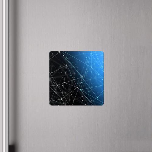 Магнит виниловый Квадрат Линейно-точечная геометрия  Фото 01