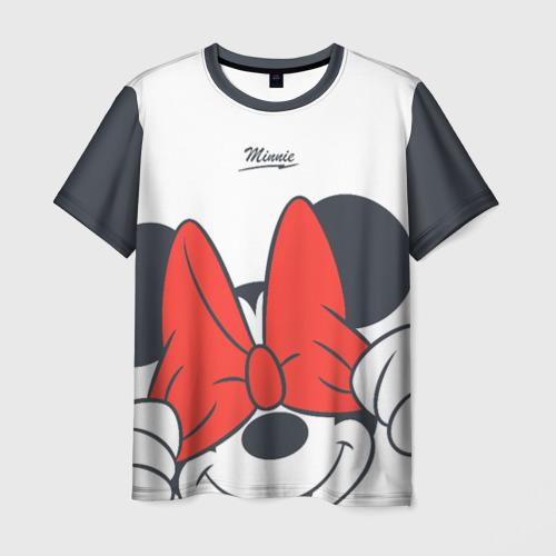 Мужская футболка 3D+ Минни Маус Фото 01