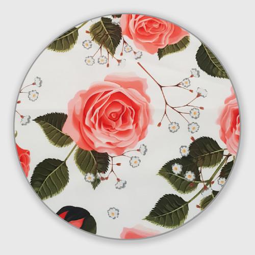 Коврик для мышки круглый Нежные розы Фото 01