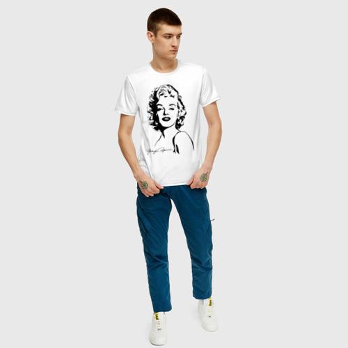 Мужская футболка хлопок Мэрилин Монро Фото 01