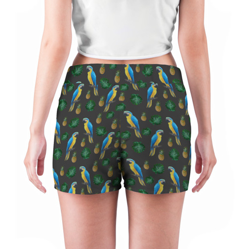 Женские шорты 3D Попугай Ара Фото 01