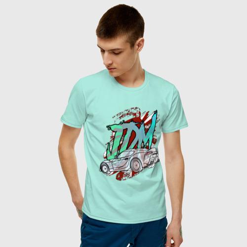 Мужская футболка хлопок JDM. Toyota Supra Mk5 A90 Фото 01
