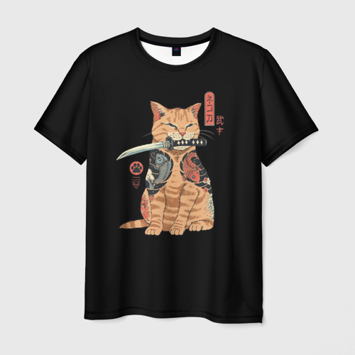 Мужская футболка 3D KoteYakuza Фото 01