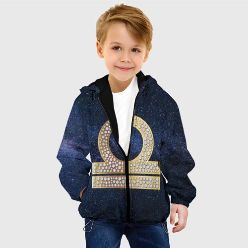 Детская куртка 3D золотые весы. Фото 01