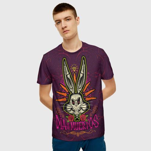 Мужская футболка 3D Dia De Los Muertos Фото 01