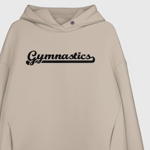 Женское худи Oversize хлопок Gymnastics Фото 01