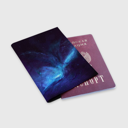 Обложка для паспорта матовая кожа Космос Фото 01