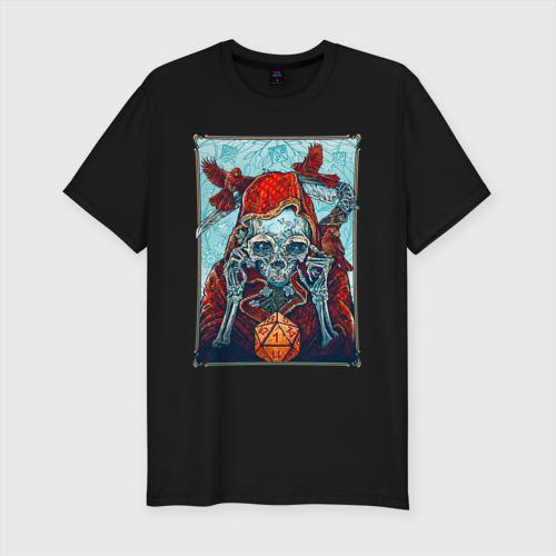 Мужская футболка хлопок Slim Манчкин со смертью Фото 01