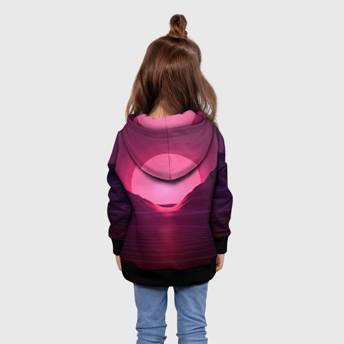Детская толстовка 3D Фиолетовый закат Фото 01