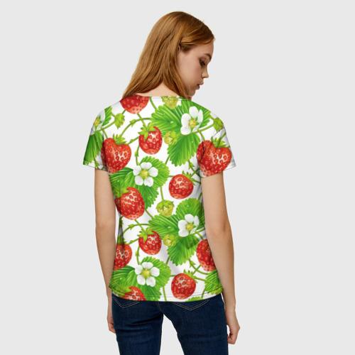 Женская футболка 3D Земляника за  1090 рублей в интернет магазине Принт виды с разных сторон