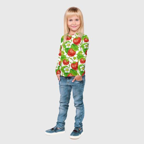 Детский лонгслив 3D Земляника за  1590 рублей в интернет магазине Принт виды с разных сторон